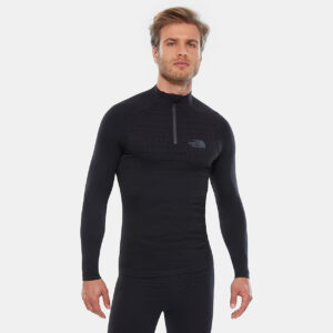 SPORT LS ZIP NECK